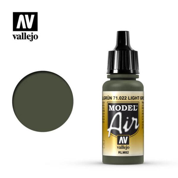 MA 71022 Hellgrün - Light Green 17mlRLM82La gama de colores Model Air ha sido desarrollada específicamente para su uso en aerografía