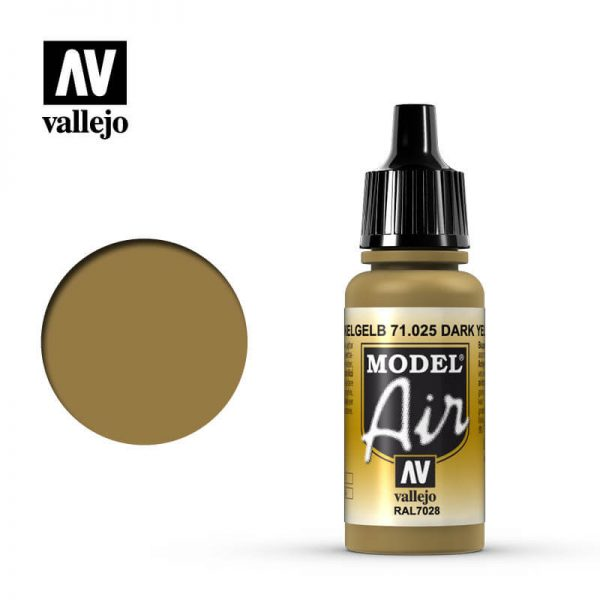 MA 71025 Dunkelgleb - Dark Yellow 17mlRAL7028La gama de colores Model Air ha sido desarrollada específicamente para su uso en aerografía