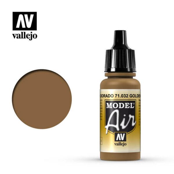 MA 71032 Marrón Dorado - Golden Brown 17mlLa gama de colores Model Air ha sido desarrollada específicamente para su uso en aerografía.