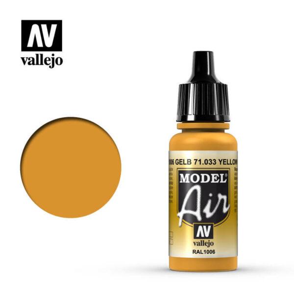 MA 71033 Gelb - Yellow Ochre 17mlRAL1006La gama de colores Model Air ha sido desarrollada específicamente para su uso en aerografía