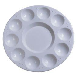 dismoer 29990 Paleta de mezclas plástico 17 cmPaleta de plástico para trabajos de pintura y modelismo con 10 pocitos.