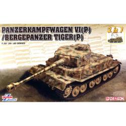 dragon 6869 Panzerkampfwagen VI(P) / Bergepanzer Tiger(P) 2in1Kit en plástico para montar y pintar