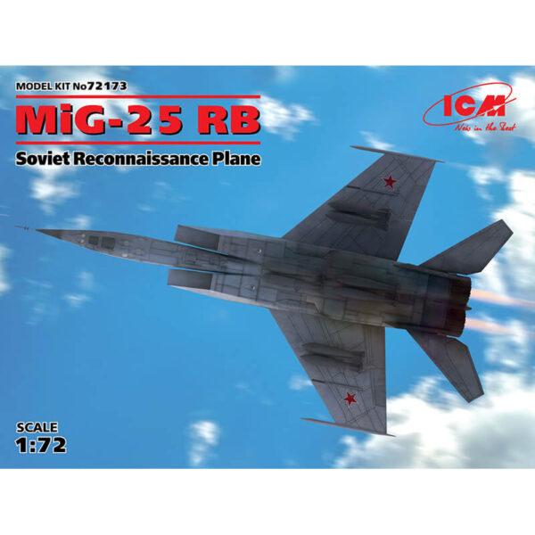 icm 72173 MiG-25 RBSoviet Reconnaissance PlaneKit en plástico para montar y pintar este reactor de reconocimiento soviético