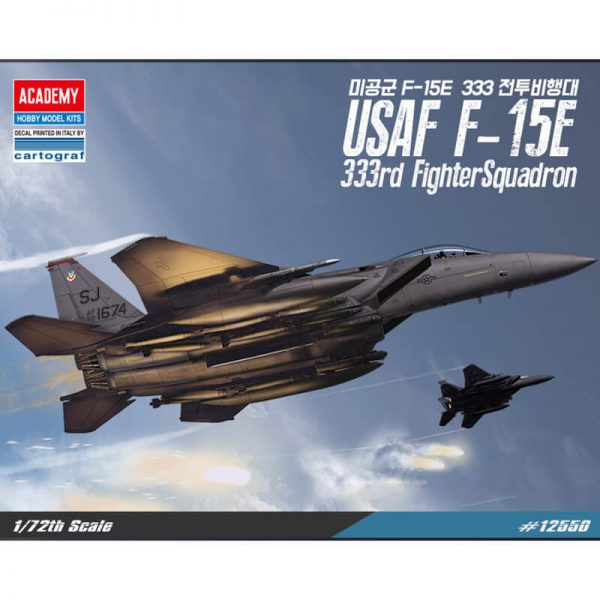 academy 12550 USAF F-15E 333rd Fighter Squadron 1/72