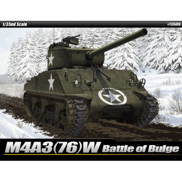 Academy 13500 Sherman M4A3 (76)W Battle of the Bulge Escala 1/35