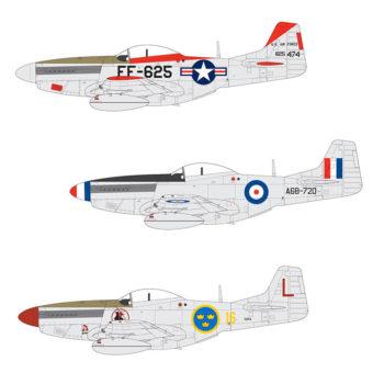 airfix a05136 North American F-51D Mustang Escala 1/48
