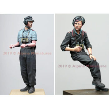 alpine miniatures 35265 WW2 German Panzer Commander Summer Set