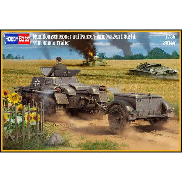 hobby boss 80146 Munitionsschlepper auf Panzerkampfwagen I Ausf Awith Ammo Trailer maqueta escala 1/35