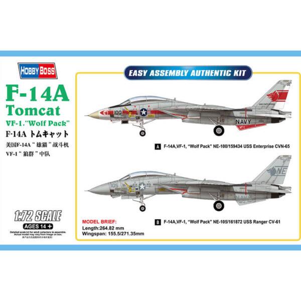 hobby boss 80279 F-14A Tomcat VF-1 Wolf Pack maqueta escala 1/72