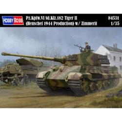 hobby boss 84531 Pz.Kpfw.VI Sd.Kfz.182 Tiger II(Henschel 1944 Production) w/ Zimmerit maqueta escala 1/35