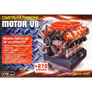 Maqueta de un Motor de combustión interna V8Construye un modelo en plástico de motor de combustión interna V8 completamente funcional.