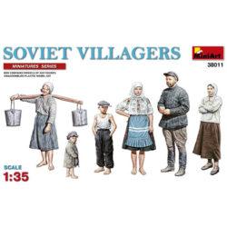 miniart 38011 Soviet Villagers escala 1/35