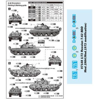 trumpeter 07148 Russian T-62 BDD Mod.1984 (Mod.1972 modification) maqueta escala 1/72
