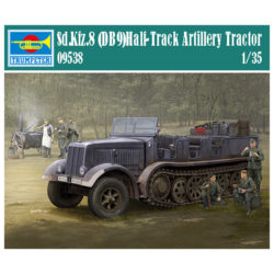 trumpeter 09538 German Sd.Kfz.8 (DB9) Half-Track Artillery Tractor escala 1/35