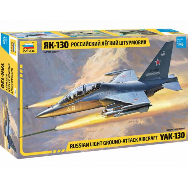 zvezda 4821 Russian light ground-attack aircraft YAK-130 Escala 1/48