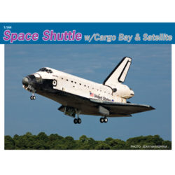 dragon 11004 Space Shuttle w/Cargo bay & Satellite maqueta de plástico escala 1/144