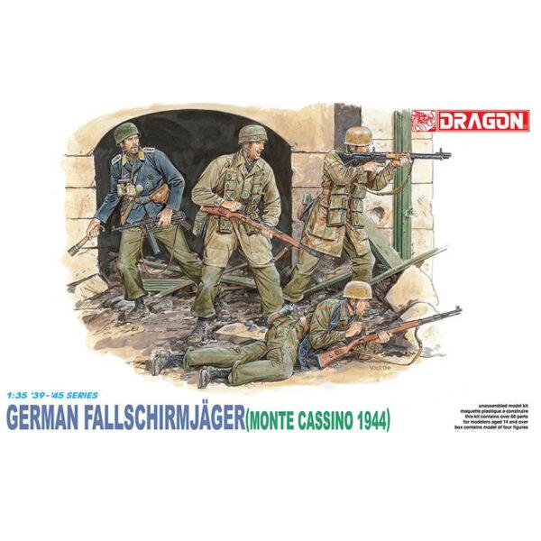 dragon 6005 GERMAN FALLSCHIRMJAGER (MONTE CASSINO 1944) Kit en plástico para montar y pintar. figuras escala 1/35