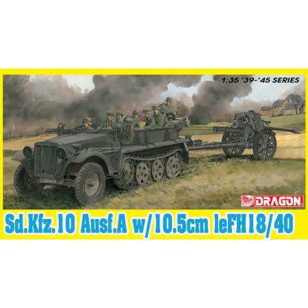 dragon 6939 Sd.Kfz.10 Ausf.A w/10.5cm leFH18/40 maqueta escala 1/35