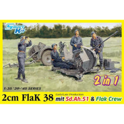 dragon 6942 2cm FlaK 38 Early/Late Production mit Sd.Ah.51 and Crew 2in1 maqueta escala 1/35