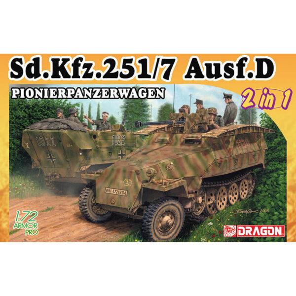 dragon 7605 Sd.Kfz.251/7 Ausf.D Pionierpanzerwagen 2 in 1 maqueta escala 1/72