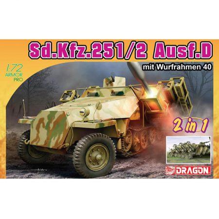 dragon model 7604 Sd.Kfz.251/2 Ausf.D mit Wurfrahmen 40 2 in 1 maqueta escala 1/72