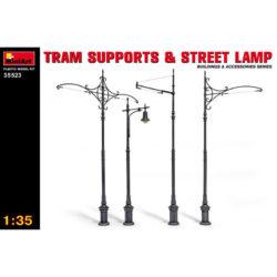 miniart 35523 Tram Supports and Street Lamp maqueta escala 1/35