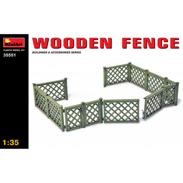 miniart 35551 Wooden Fence - Cerca de Madera maqueta escala 1/35