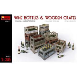 miniart 35571 Wine Bottles & Wooden Crates escala 1/35