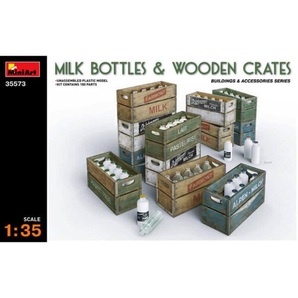 miniart 35573 Milk bottles & wooden crates Building & Accesories Series escala 1/35