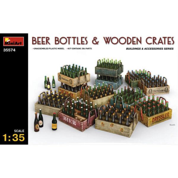 miniart 35574 Beer Bottles & Wooden Crates escala 1/35