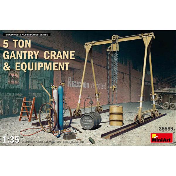 miniart 35589 5 Ton Gantry Crane & Equipement escala 1/35