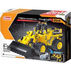 qihui 6803 2 en 1 Bulldozer y Tanque 261pcs Mechanical Master DIY Mechanical Transmission