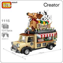 Loz Mini 1116 Hot Dog Car 1317 pcs Construye y colecciona con los bloques de Loz, tus vehículos favoritos.