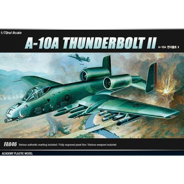 Fairchild-Republic A-10A Thunderbolt II maqueta escala 1/72