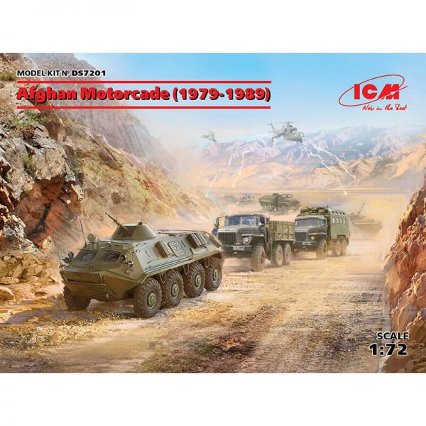 icm ds7201 Afghan Motorcade 1979-1989 USSR 1/72