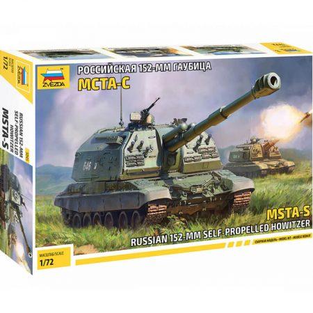 zvezda 5045 Russian 152 mm SP Howitzer MSTA-S maqueta escala 1/72