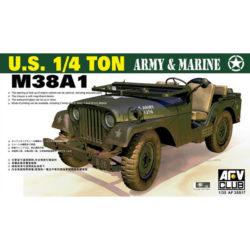 AFV 35S17 M38A1 US 1/4 ton Utility Truck Army & Marine maqueta escala 1/35