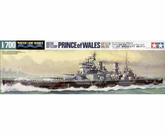 Tamiya 31615 British Battleship Prince of Wales Battle of Malaya maqueta escala 1/700