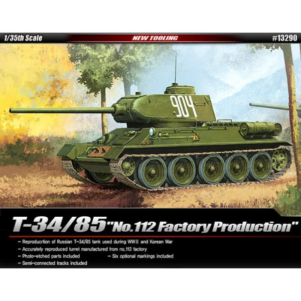 academy 13290 Russian T-34/85 No. 112 Factory Production maqueta escala 1/35