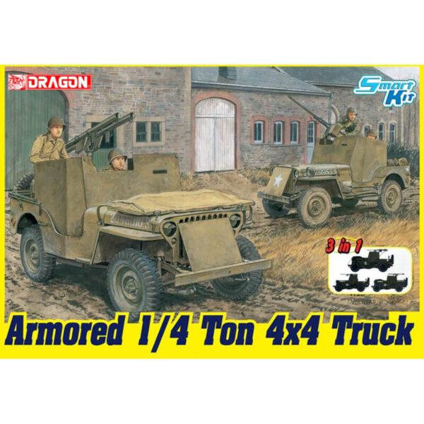 dragon 6727 Armored 1/4-Ton 4x4 Truck w/.50-cal Machine Gun 3in1 maqueta escala 1/35