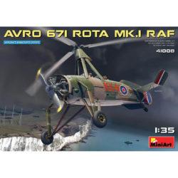 miniart 41008 AUTOGIRO AVRO 671 ROTA MK.I RAF maqueta escala 1/35