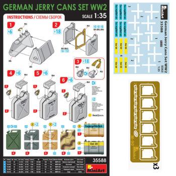 miniart model 35588 German Jerry Cans Set WW2 maqueta escala 1/35