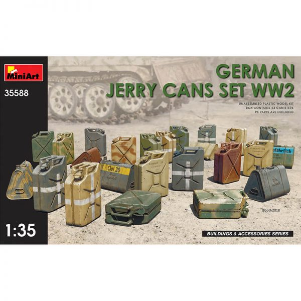 miniart model 35588 German Jerry Cans Set WW2 maqueta escala 1/35