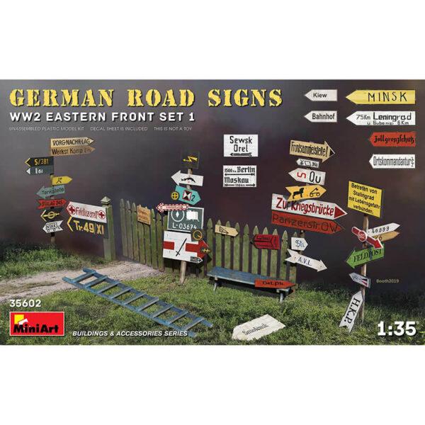 miniart model 35602 German Road Signs WW2 Eastern Front Set 1 maqueta escala 1/35