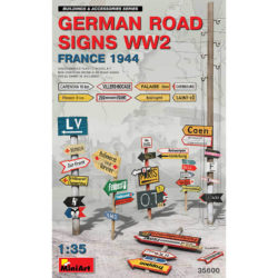 miniart models 35600 German Road Signs WW2 France 1944 escala 1/35