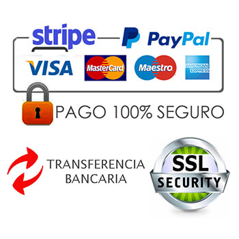 En mister model puedes pagar con seguridad a traves de la pasarela de pago stripe o de paypal