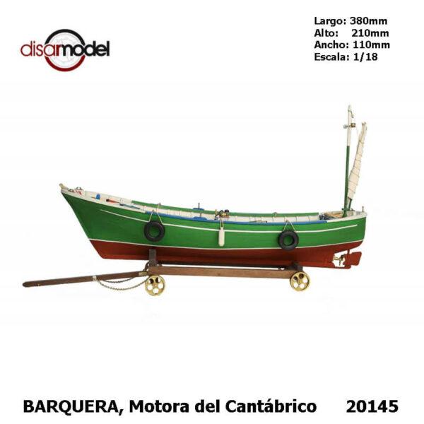 disarmodel 20145 Barquera Motora del Cantábrico maqueta escala 1/18
