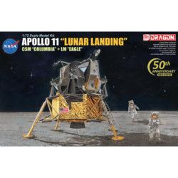 dragon 11002 Apollo 11 Lunar Landing CSM Columbia + LM Eagle maqueta escala 1/72