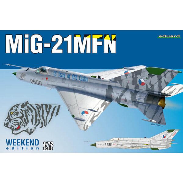 eduard 7452 MiG-21MFN Weekend Edition maqueta escala 1/72