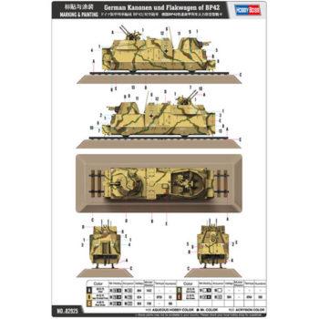 hobby boss 82925 German Kanonen und Flakwagen of BP42
